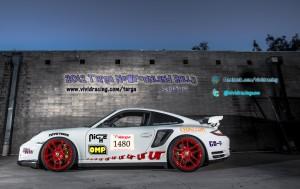 Image: Targe New Foundland racing porsche.