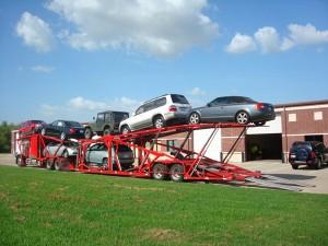 Open transport car shipping carrier